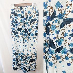 Jaase pants XL flowy boho lounge pants with birds